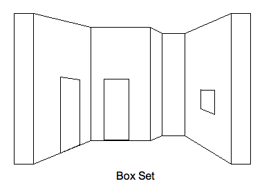 box with one side removed. Naturally it uses corner joints